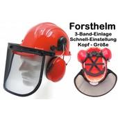 Forsthelm 3-Band-Einlage Forst und Sicherheitshelm Standard - Helm mit Gehörschutz Gr. 52 bis 62