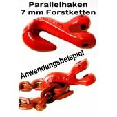 Verkürzungshaken Parallelhaken Forstkette mit Gabelkopf für 8 mm Rückekette