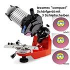 Sägekettenschärfgerät für Sägekette einer Kettensäge - Kettenschärfgerät tecomec compact Semi-Profi