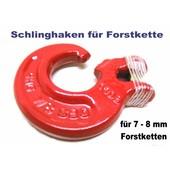 Schlinghaken mit Gabelkopf für 8mm Forstkette G8 incl. Bolzen u. Stift für Rückekette