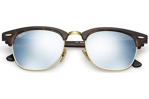 Ray-Ban zonnebril Clubmaster 3016 114530 Flash Lenses