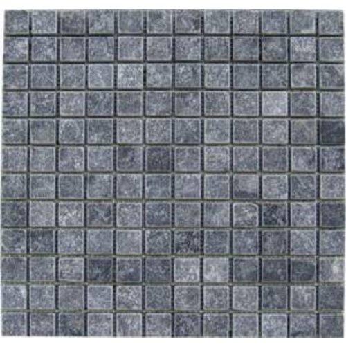 Natuursteen marmer Mozaïek mat Karia Black 2,5 x 2.5 x 1 cm P/M²