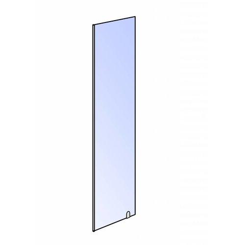 losse klik zijwand 30x200 cm met hoek profiel