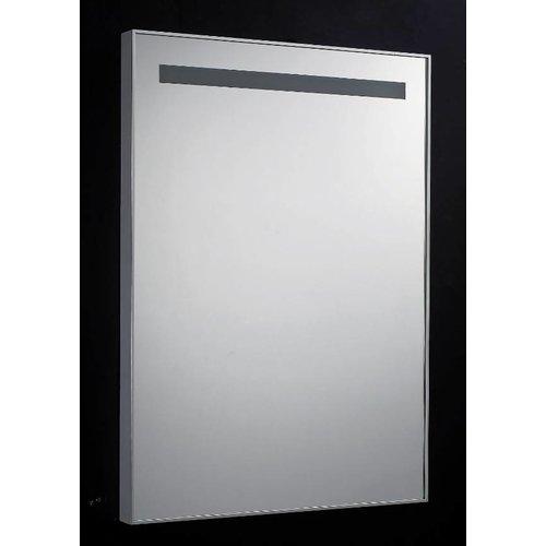 Spiegel 58cm Aluminium met TL Verlichting en schakelaar
