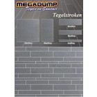 Niro Granite Tegelstroken Gmr 98 lichte tint 5,10,15x60 cm (wildverband stroken ) P/M²