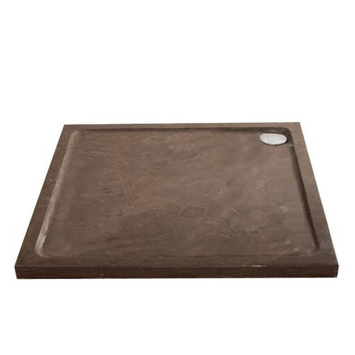 Hardstenen douchebak 90x90x5 cm vierkant