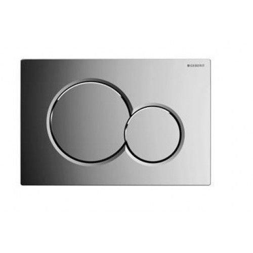 Sigma 01 drukplaat chroom voor de UP300 / UP320 / UP720 inbouwreservoir