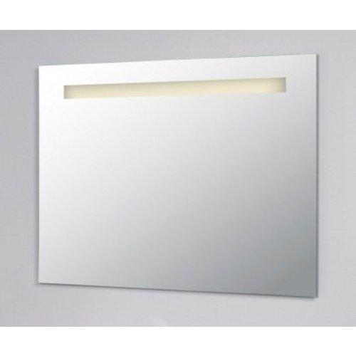 Spiegel 80cm Aluminium met LED Verlichting en schakelaar