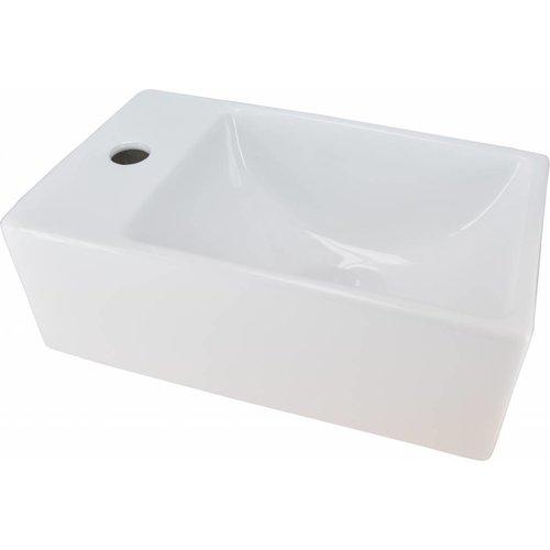 Aqua Splash Fontein Keramisch Forsite Xs Links 305X180X110 Wit