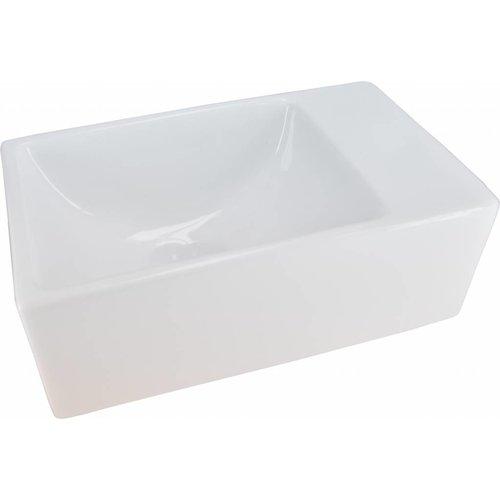Aqua Splash Forsite Keramisch Fontein Xs 30,5X18X11 Cm Zonder Kraangat Wit