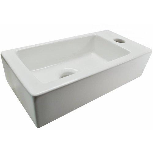 Aqua Splash Forsite Keramische Fontein Rechts 36X18X9 Cm Wit