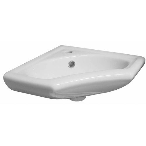 Aqua Splash Horus Keramische Hoek-Fontein 35X35 Cm Wit