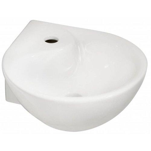Aqua Splash Kratos Keramische Hoek-Fontein 35X35X14,5 Cm Wit