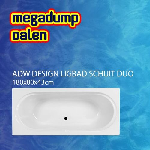 Ligbad Schuit Duo 180x80x43 cm