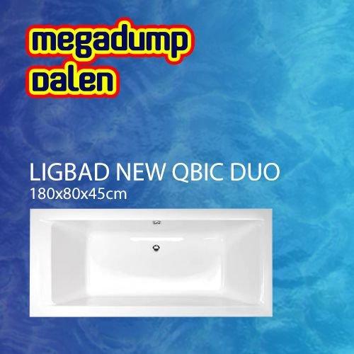 Ligbad New Qbic duo 180x80x45 cm