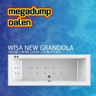 Wisa New Grandola whirlpool 180x80x60/65 cm inclusief LED buttons