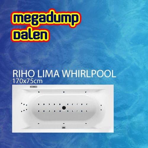 Ligbad Lima 170x75x42 cm sportpakket deluxe whirlpool