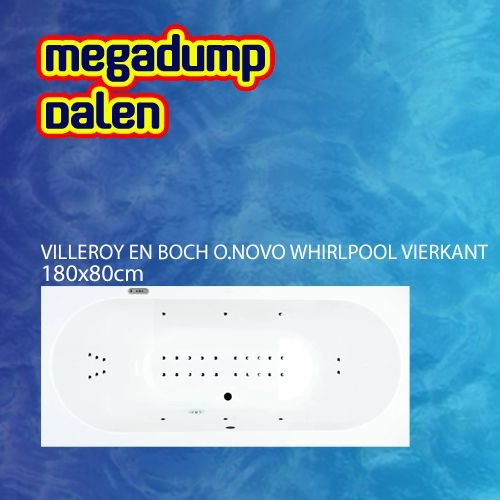 O.Novo whirlpool rond 180x80x50 cm sportpakket deluxe