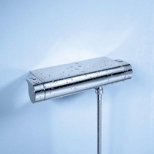 New Grotherm 2000 douchethermostaat 15 cm met koppeling en tray chroom