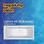 Aqua Viva Ligbad 180x80x49 cm wit strak model Actie