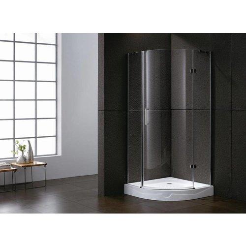 Aqua Royal Kwartronde douchecabine 100x100x192 cm met 1 deur