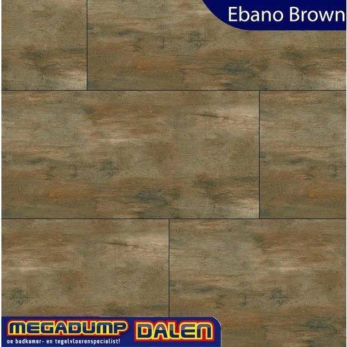 Houtlook vloertegel Ebano Brown 30x120 cm P/M²