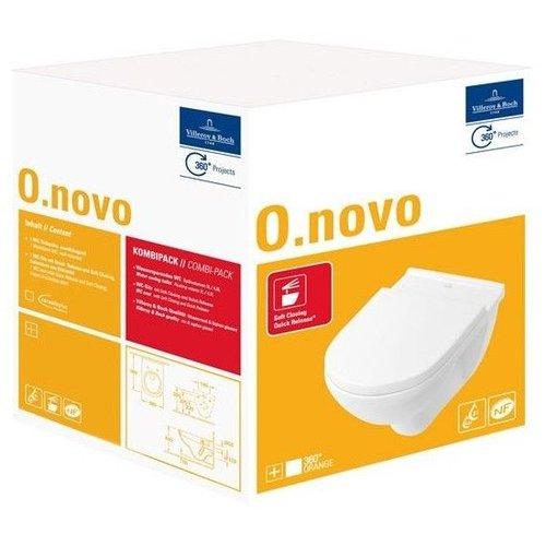 Villeroy en Boch O.novo combi-pack m. wandcloset diepspoel m. softclose zitting