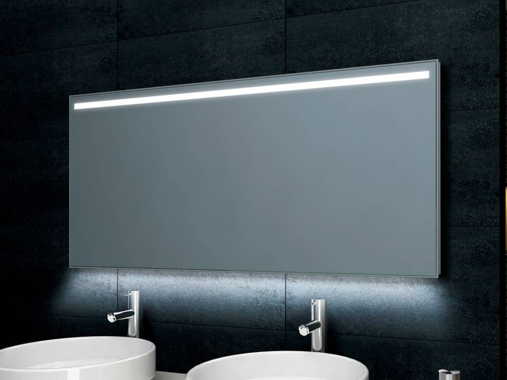 Badkamer Verlichting Spiegel : Aqua splash ambi one condensvrije spiegel 60x60 cm met led