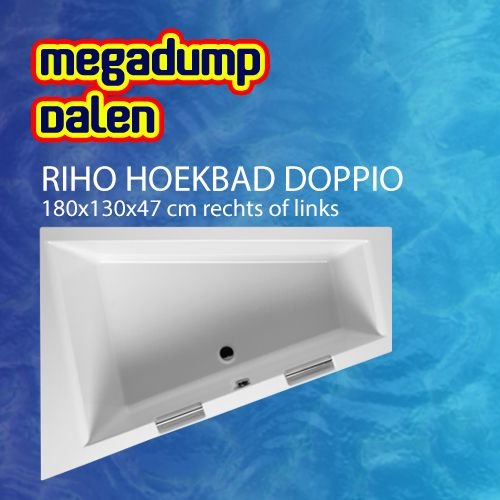 Hoekbad Doppio 180x130x47 cm rechts/links wit