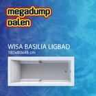 Wisa Wavedesign Basilia shower bad/douchecombinatie 180x80cm wit