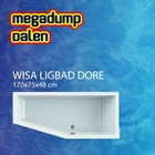 Wisa Wavedesign ligbad Dore 170x75x48 cm wit
