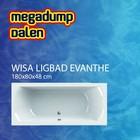 Wisa Wavedesign ligbad Evanthe 180x80 cm wit