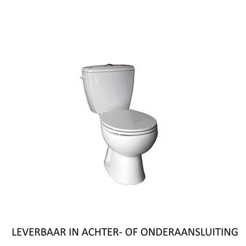 Compleet Toledo duoblok staande toilet van keramiek