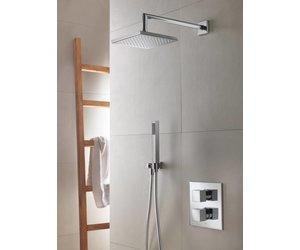 Hotbath thermostatische inbouw douche set bloke met weg stop