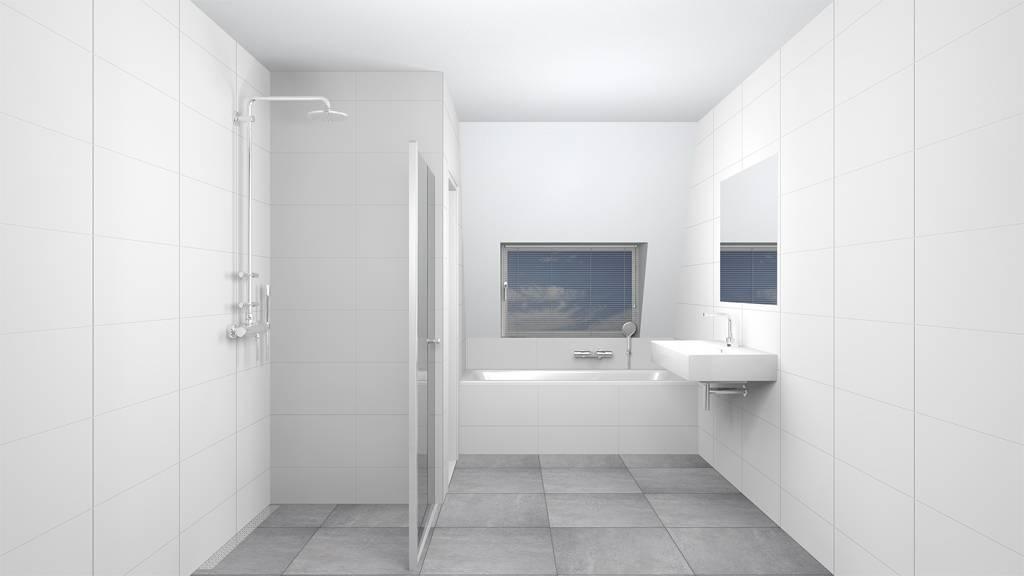 wandtegels 30x90 glans wit gekalibreerd p/m² | megadump dalen, Badkamer