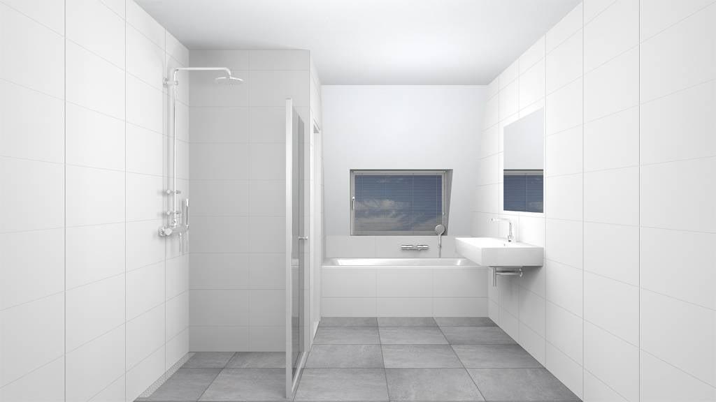 Inloopdouche Met Badkamertegels : Wandtegels 30x90 mat wit gekalibreerd p m² megadump dalen