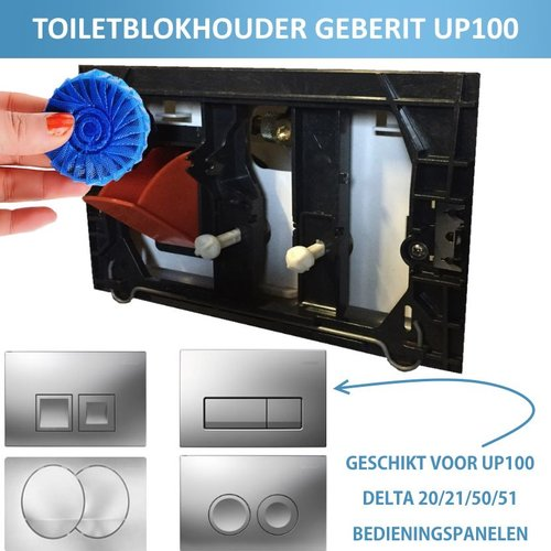 Toiletblokhouder tbv Geberit up100