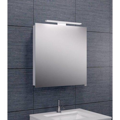 Aqua Splash Spiegelkast Met Led Verlichting 60X60 Aluminium