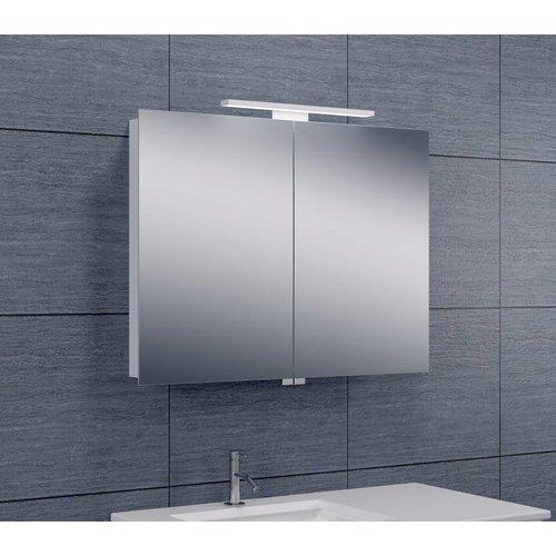 Spiegelkast Met Led Verlichting 80X60 Aluminium