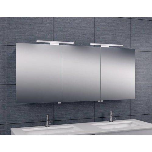 Aqua Splash Spiegelkast Met Led Verlichting 160X60 Aluminium