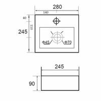 Fontein Mini Beta Compact 28x24.5cm