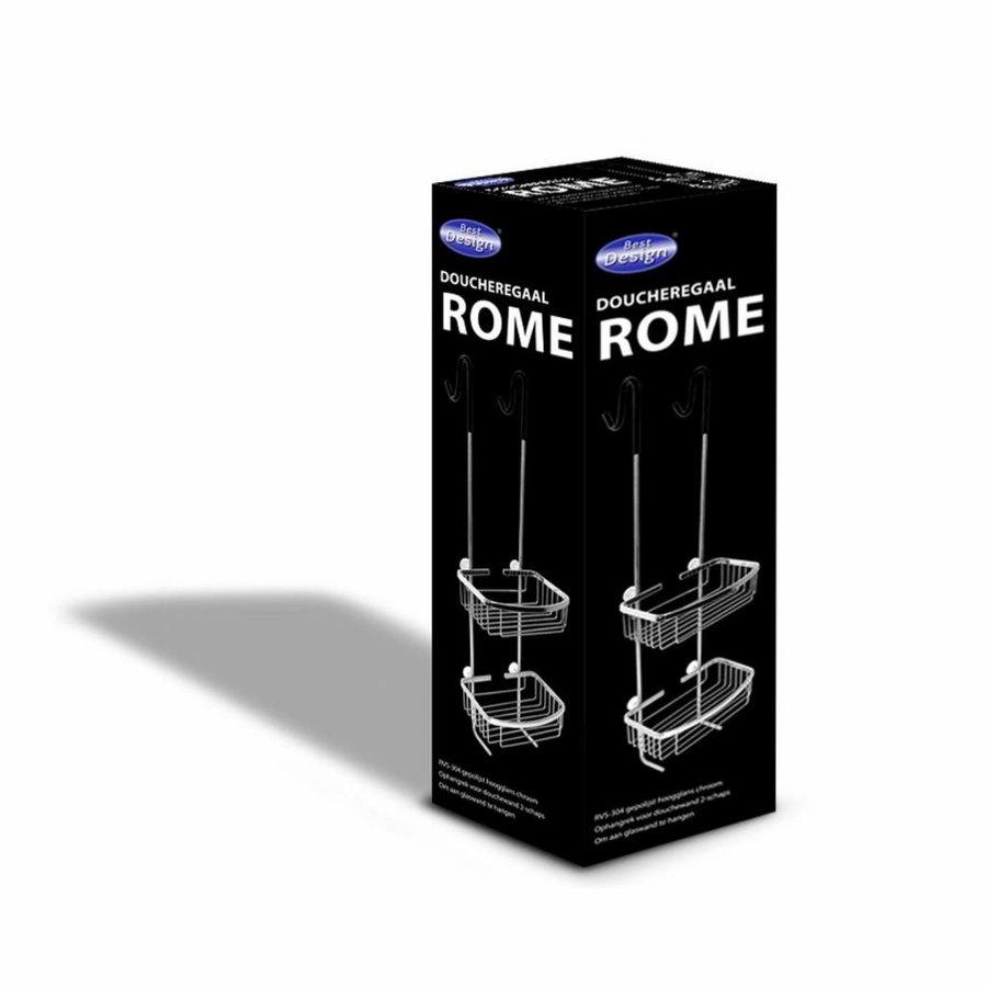 Ophangrek Rome Chroom (doucheregaal)