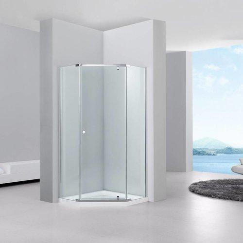 Aqua Relax Douchecabine vijfhoek Solo 100x100x200 cm 6 mm glas