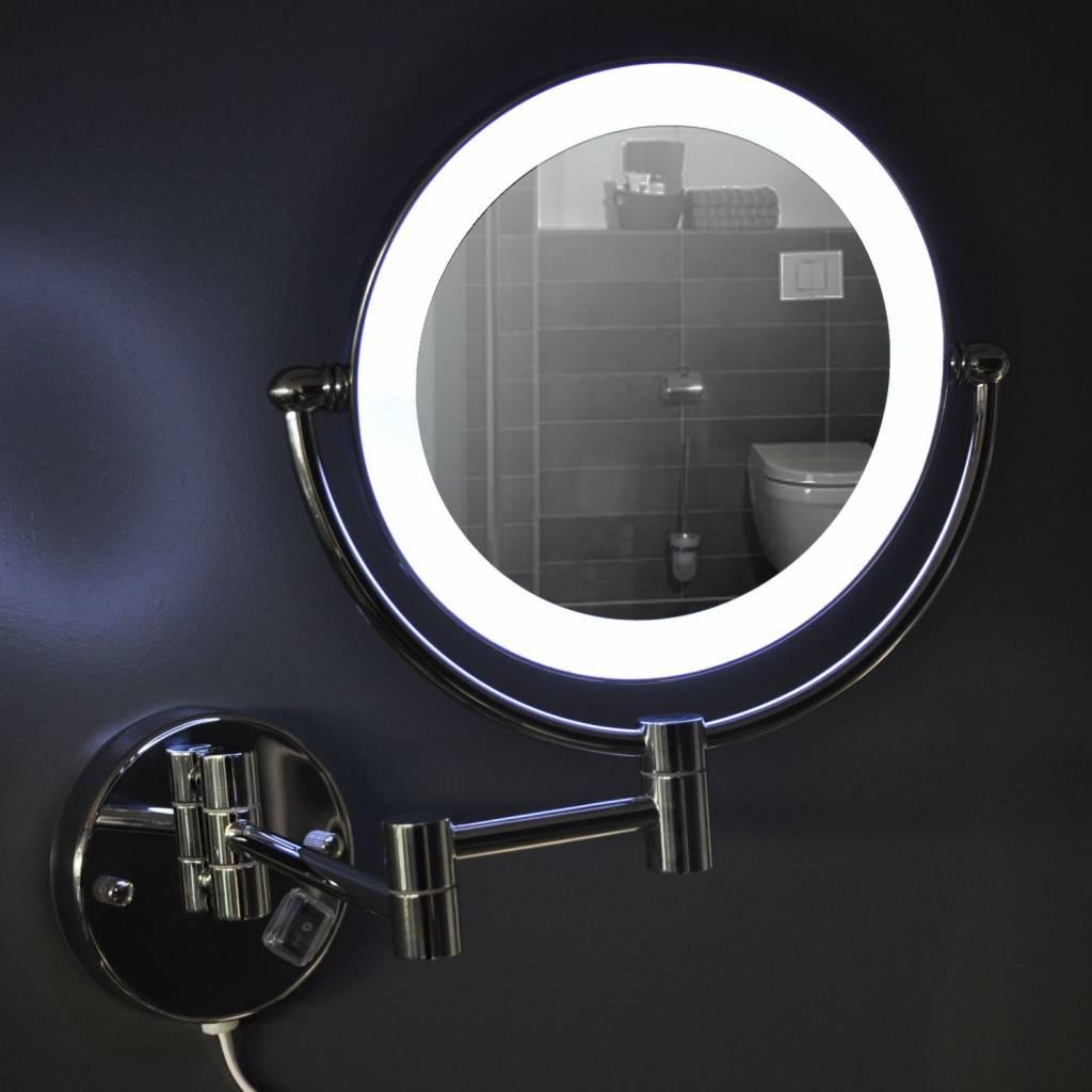 Aqua splash wand scheerspiegel met led verlichting for Verlichting spiegel