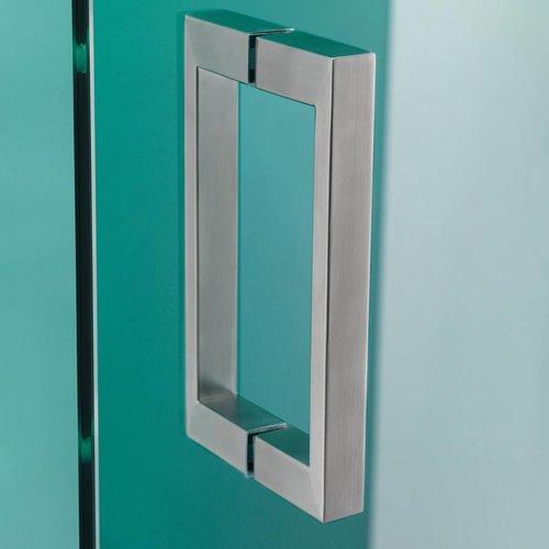 Nisdeur 'I AM' 100x200 cm RVS Helder antikalk glas