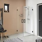 Get Wet by Sealskin Swingdeur 'I AM' 90x200 cm Mat zwart Helder Antikalk (voor comb. hoekinstap)