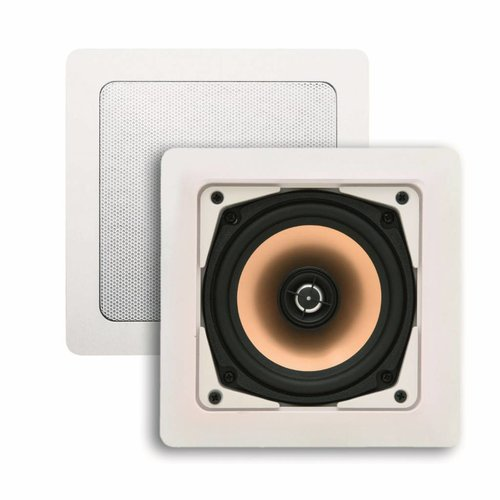Speakerset Samba (draaibare Tweeter) Mat Chroom Vierkant 177x177 mm