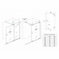 Verleng-Inloopdouche 100X200 Cm Op Rail 10Mm Nano Glas
