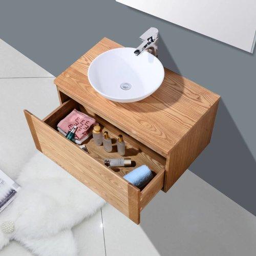 Badmeubel Vision met Wood Top ( in 4 maten verkrijgbaar)