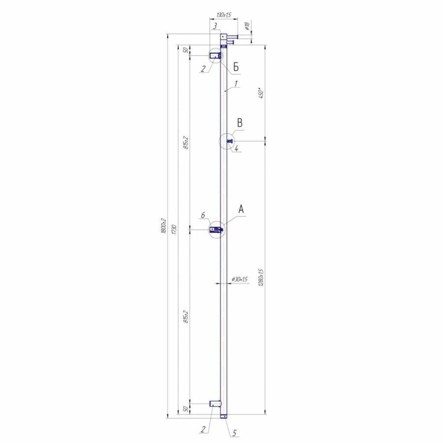 Elektrische Radiator Sting Round in 3 maten RVS Geborsteld of Gepolijst